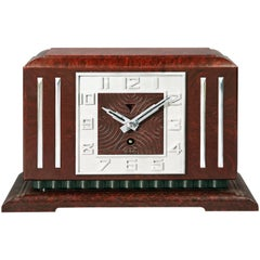Bakelite Art Deco Mantel Clock by JAZ