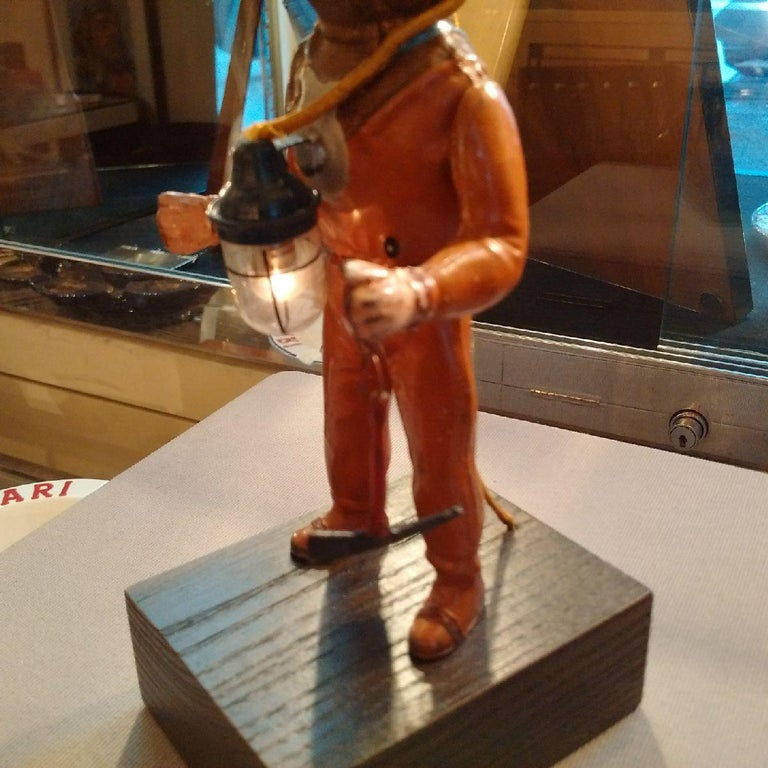 Stained Tinplate Deep Sea Diver by Fleischmann, 1940 For Sale