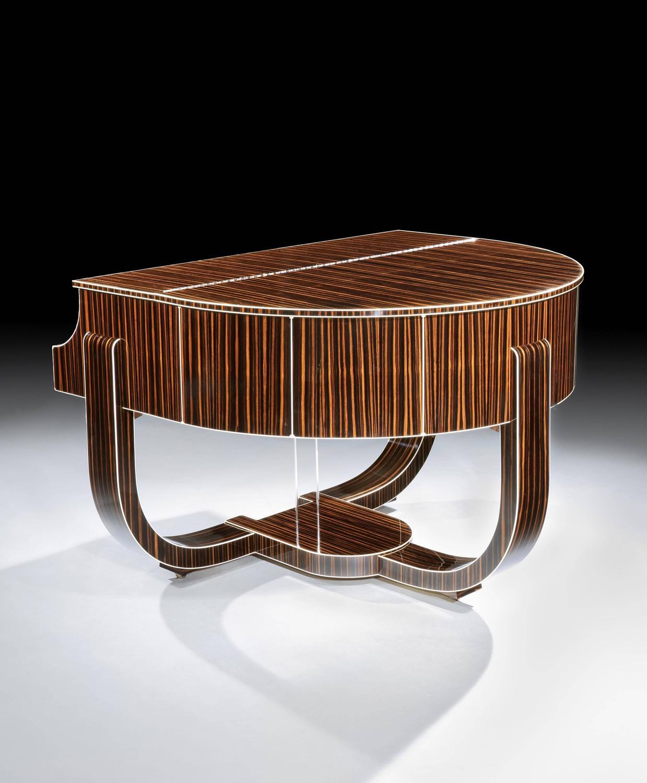 art deco 39 boudoir 39 grand piano by strohmenger 1938 for sale at 1stdibs. Black Bedroom Furniture Sets. Home Design Ideas