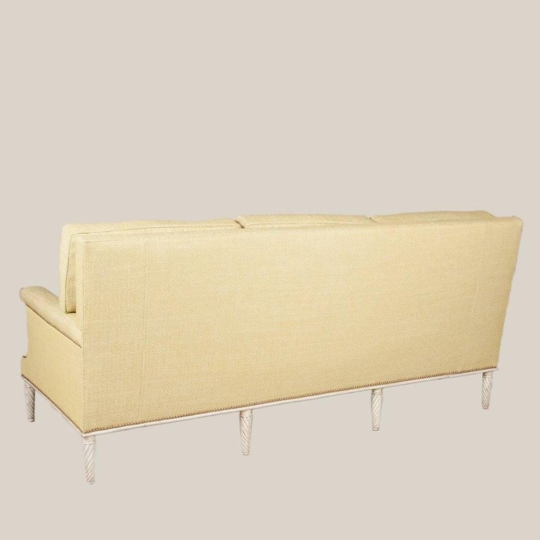 square backed sofa by maison jansen for sale at 1stdibs