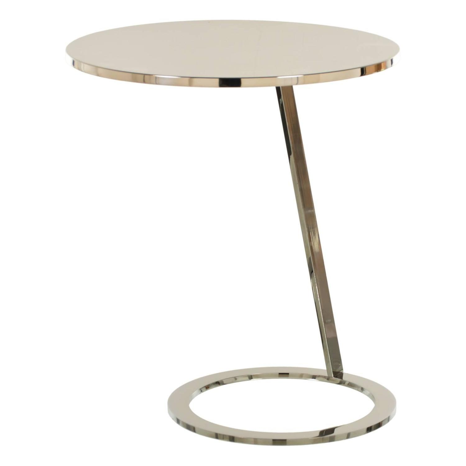 Chrome And Stainless Steel Brueton Side Table At 1stdibs