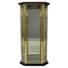 Brass and Mirror Vitrine/Display Cabinet