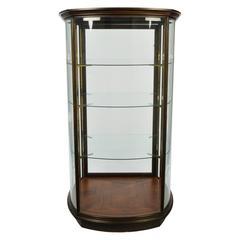 Large Custom-Made Curved Glass Vitrine / Display Cabinet