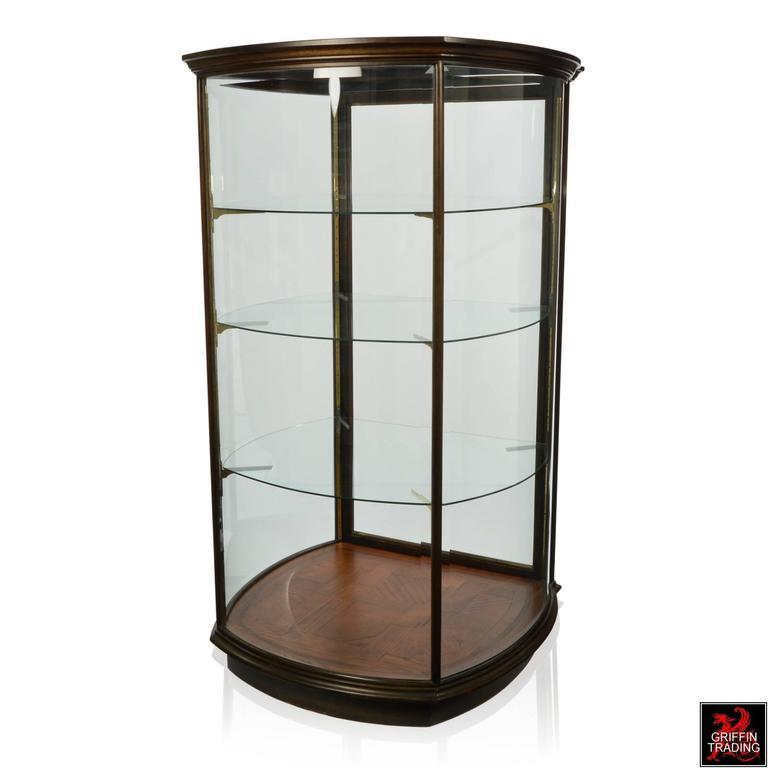 Large custom made curved glass vitrine display cabinet - Custom display cabinets ...
