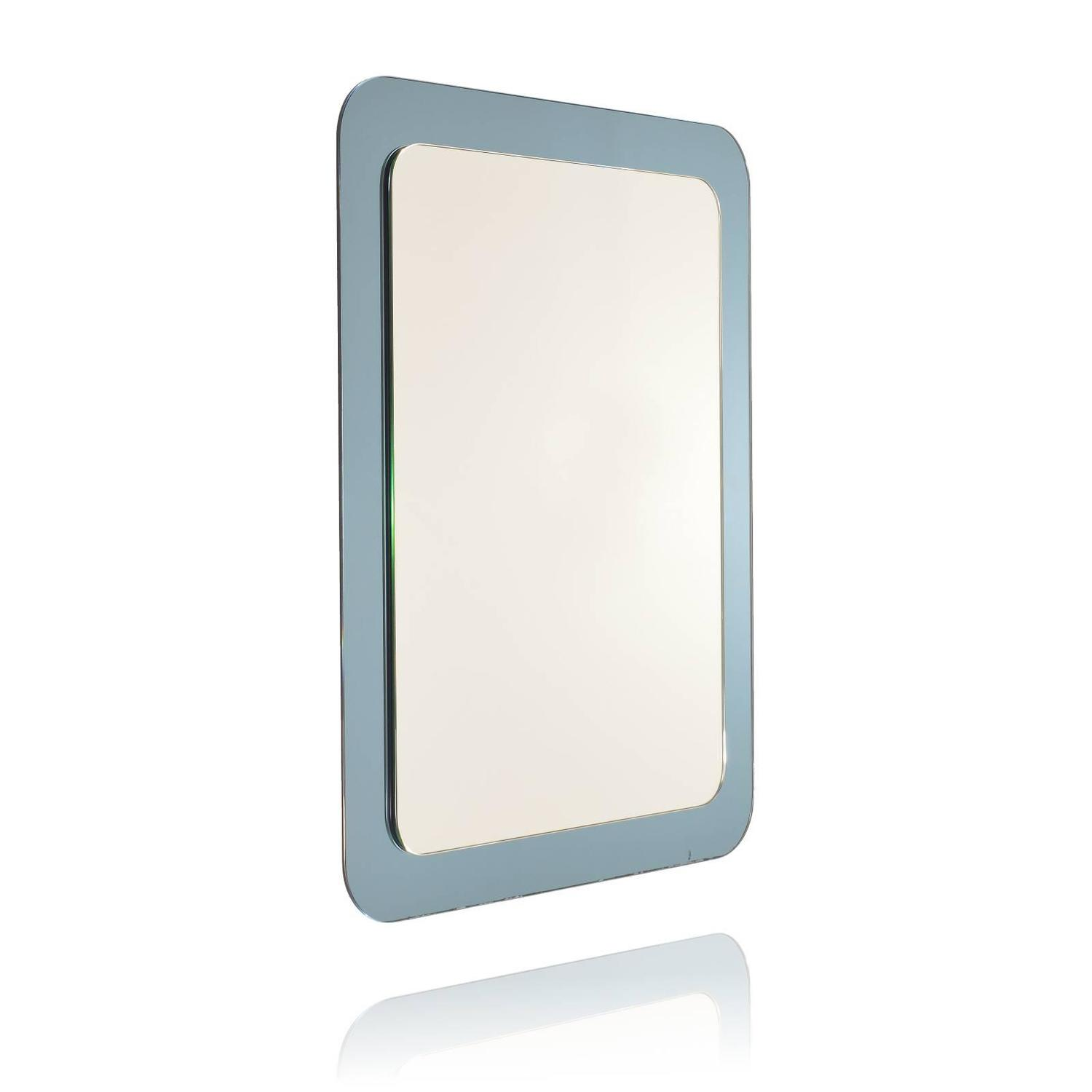 Italian wall mirror with blue mirror frame in the style of for Mirror frame styles