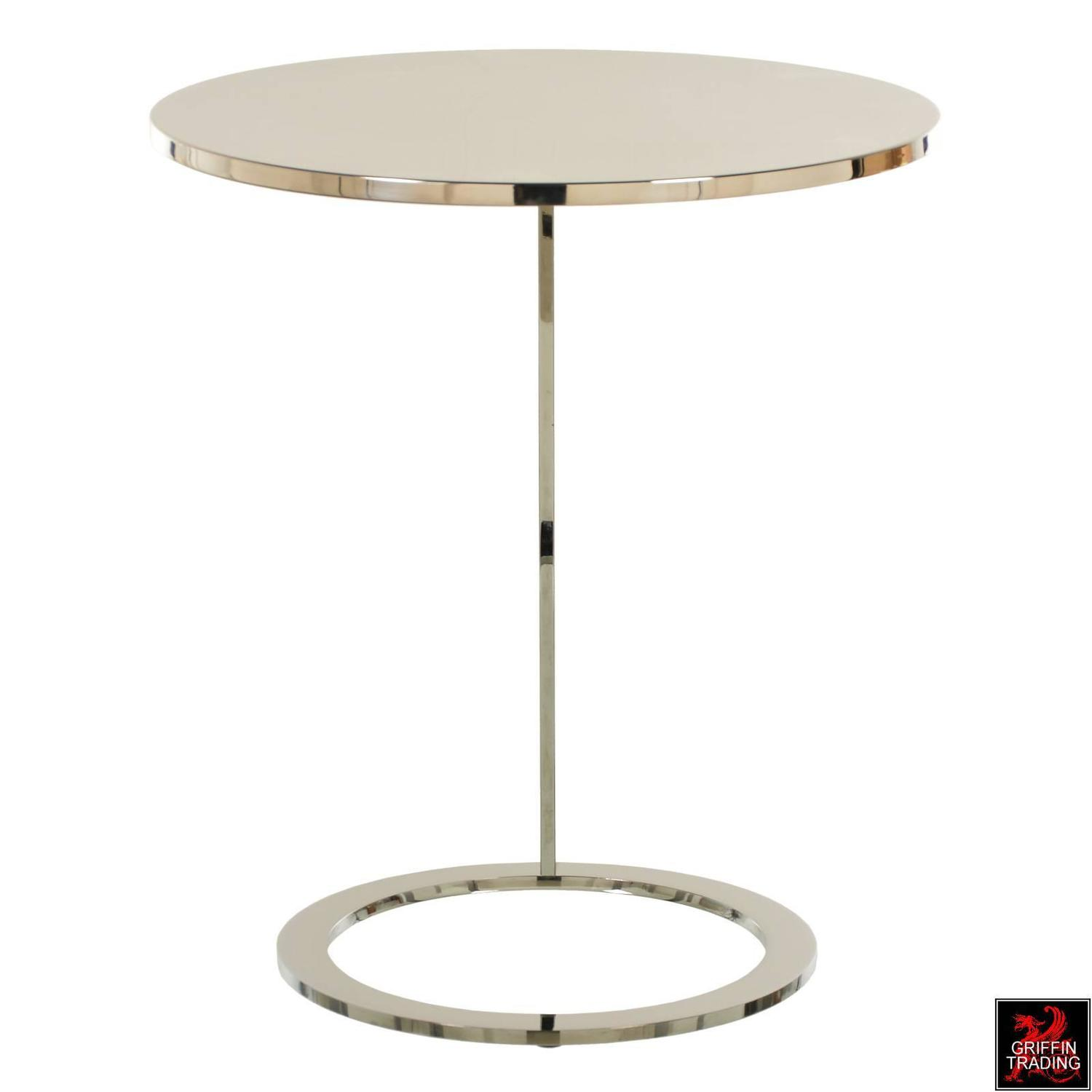 Chrome And Stainless Steel Brueton Side Table For Sale At
