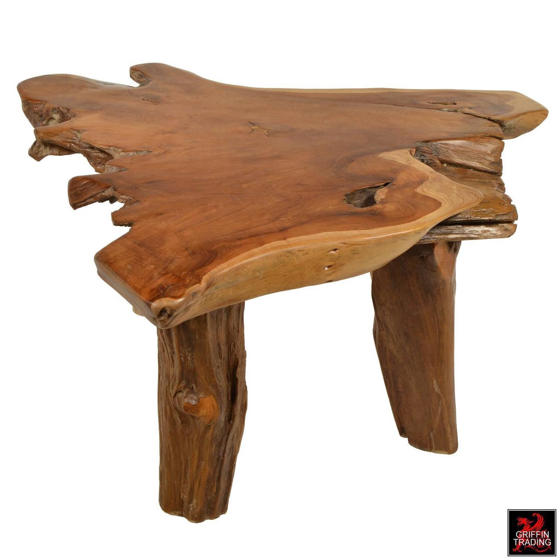 Adirondack Rustic Free Edge Slab Table For Sale At 1stdibs: Organic Free Form Teak Slab Coffee Table For Sale At 1stdibs