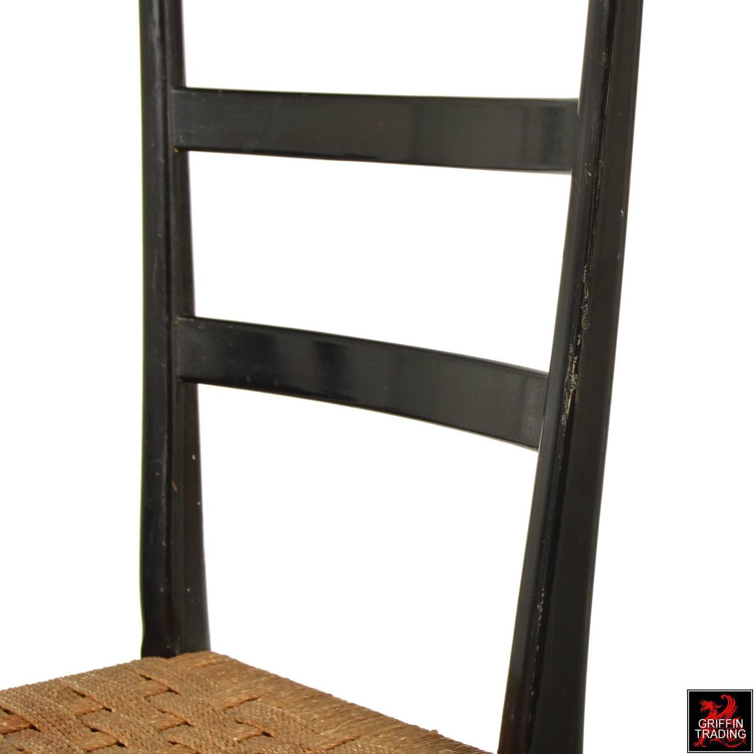 Gio Ponti Style High Ladder Back Chair For Sale At 1stdibs