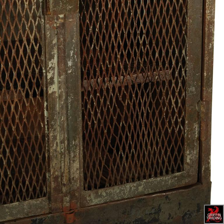 French railroad double door steel cabinet for sale at 1stdibs for Double french doors for sale