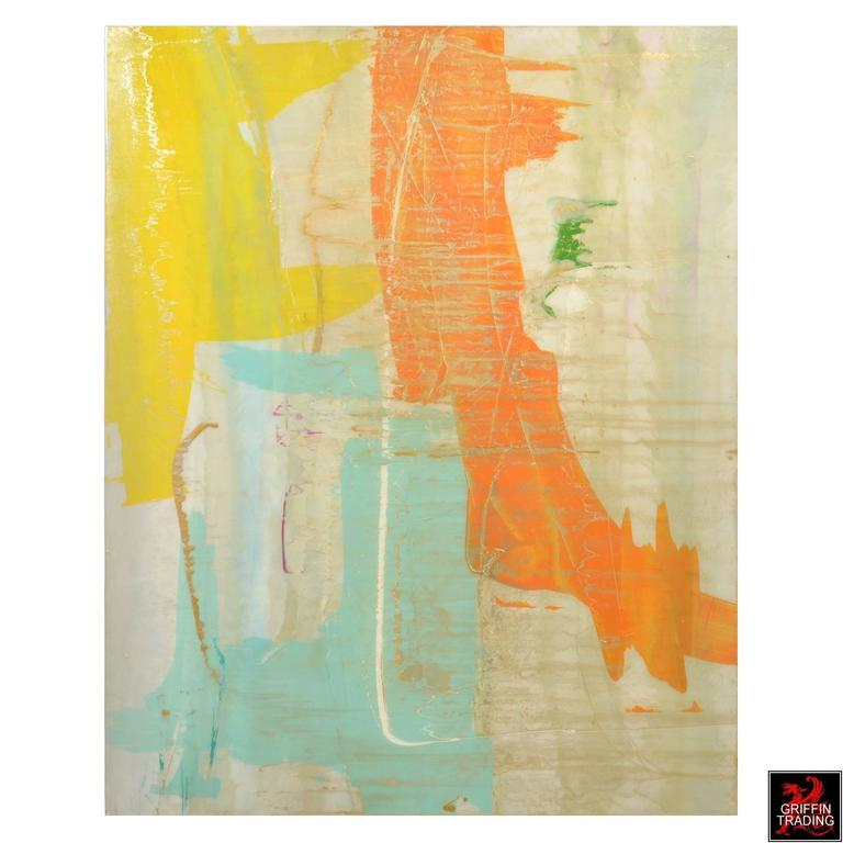 Modern Signed Original Abstract Painting 7400 For Sale