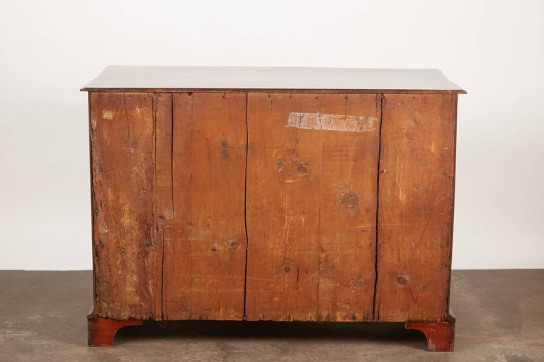 Danish late 18th Century Mahogany Bow Front Chest For Sale 4