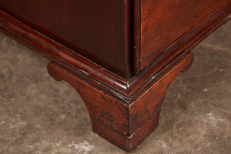 Danish late 18th Century Mahogany Bow Front Chest For Sale 3