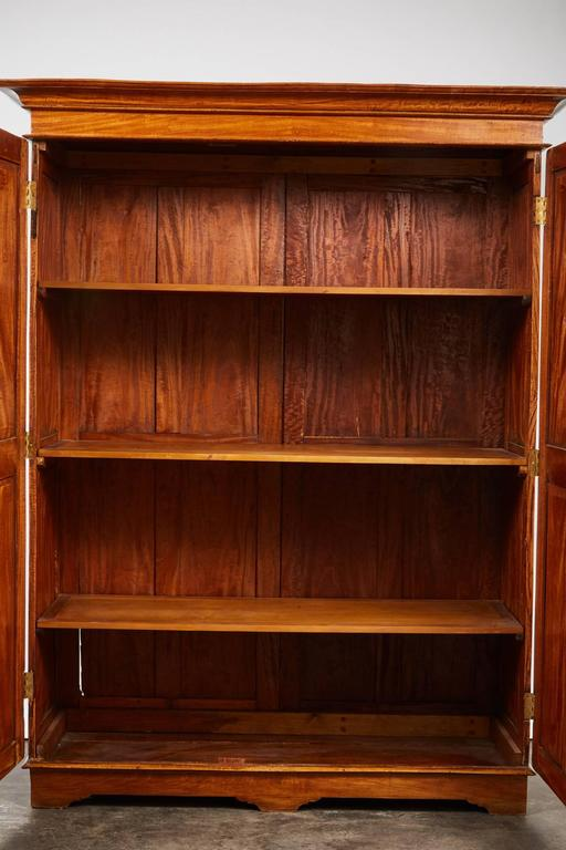 19th Century Two-Door Simple Satinwood Cabinet For Sale 4