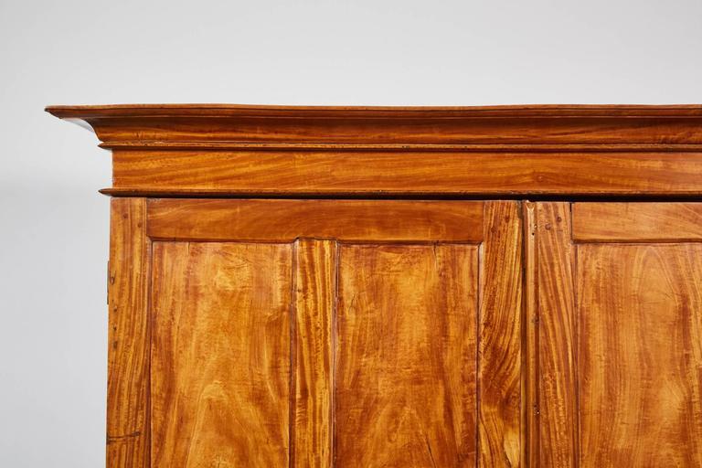 Sri Lankan 19th Century Two-Door Simple Satinwood Cabinet For Sale