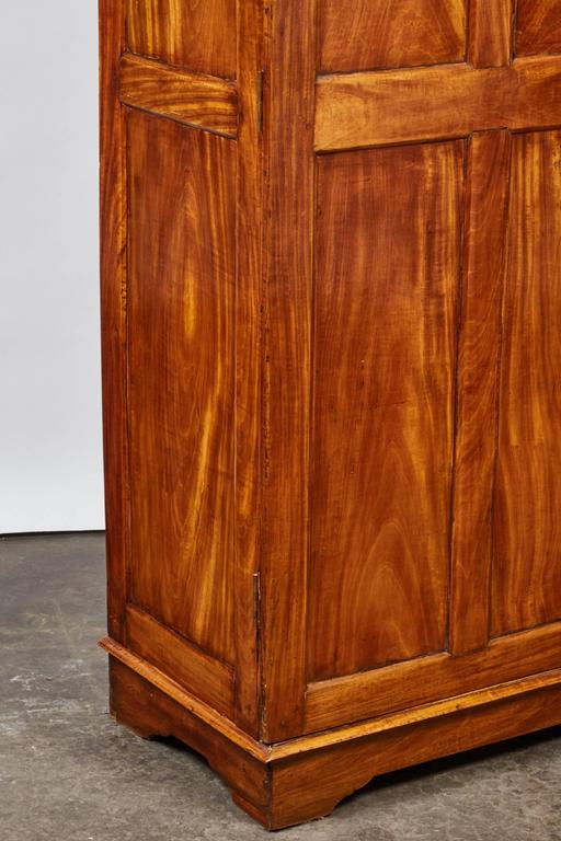 British Colonial 19th Century Two-Door Simple Satinwood Cabinet For Sale