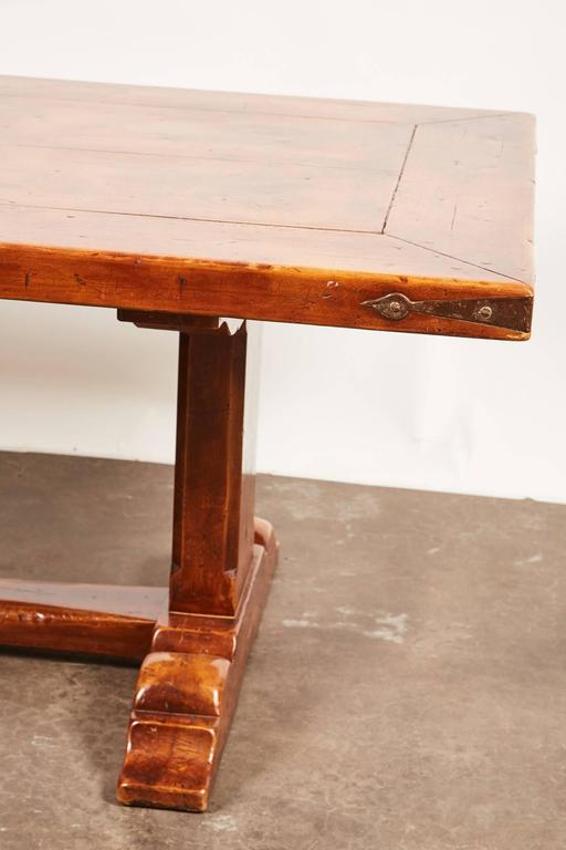 20th Century, French Walnut Trestle Dining Table For Sale 1