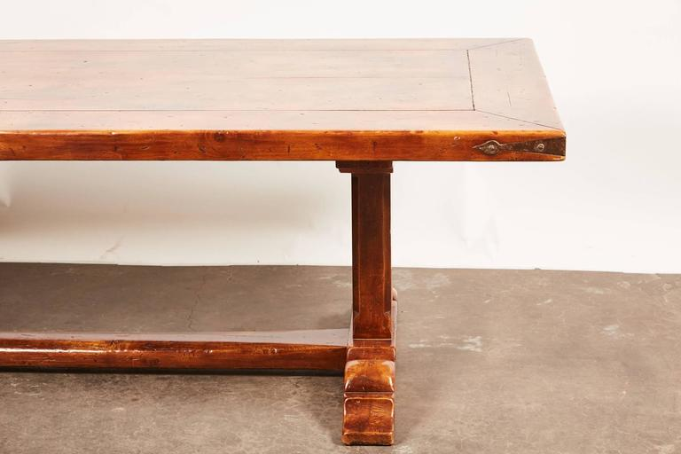20th Century, French Walnut Trestle Dining Table For Sale 2