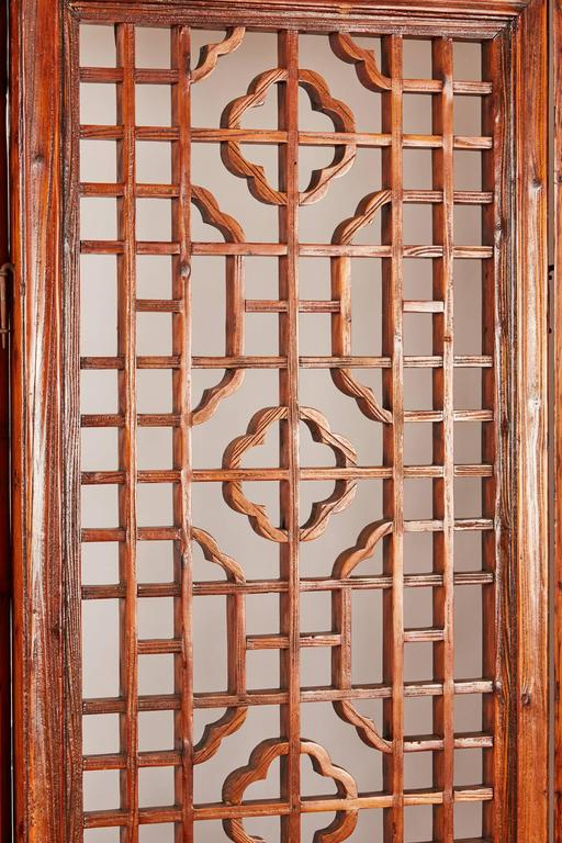 Set of 12 Brown Late 19th Century Chinese Geometrically Carved Panels For Sale 3