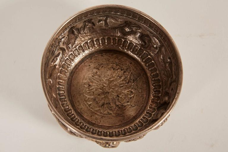 Small 20th Century Indian Silver Bowl with Relief For Sale 2