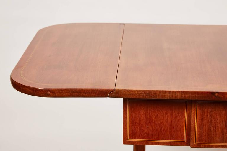 19th Century Danish Empire Mahogany Salon Table For Sale 4