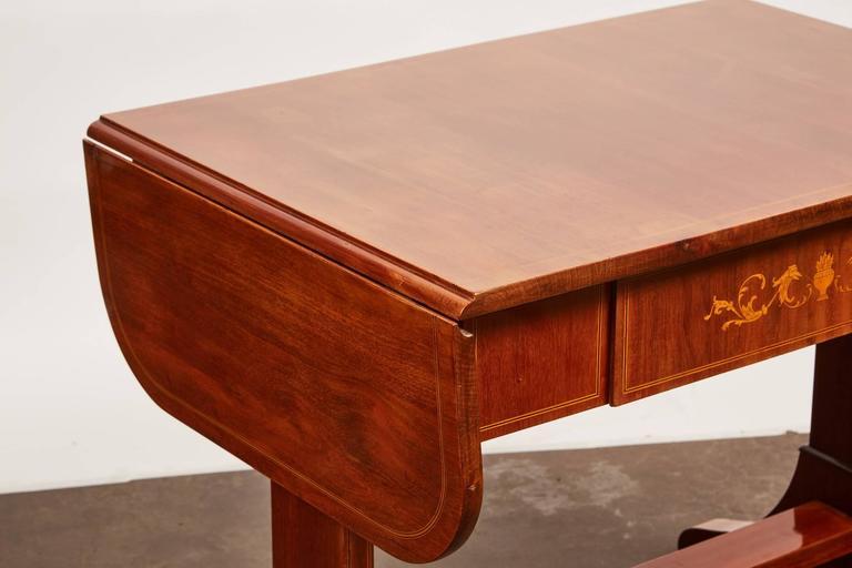 19th Century Danish Empire Mahogany Salon Table For Sale 5