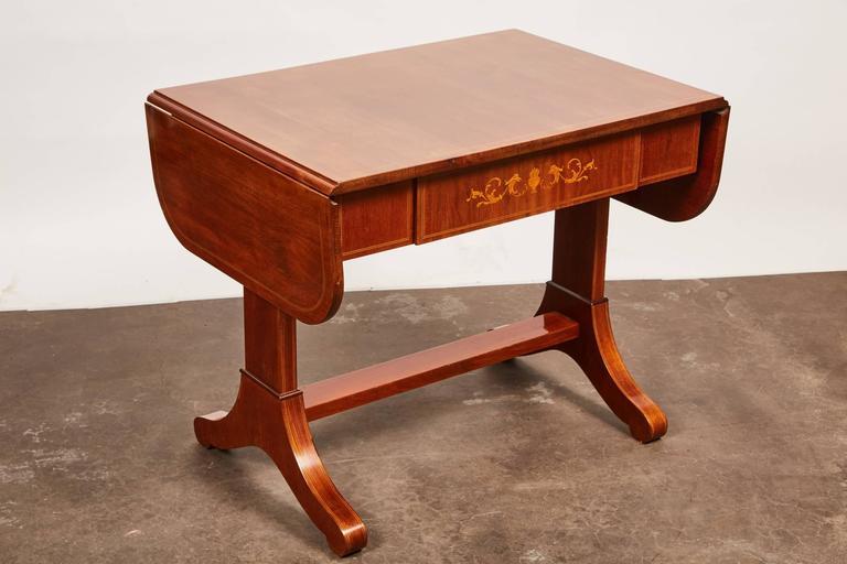 19th Century Danish Empire Mahogany Salon Table For Sale 1