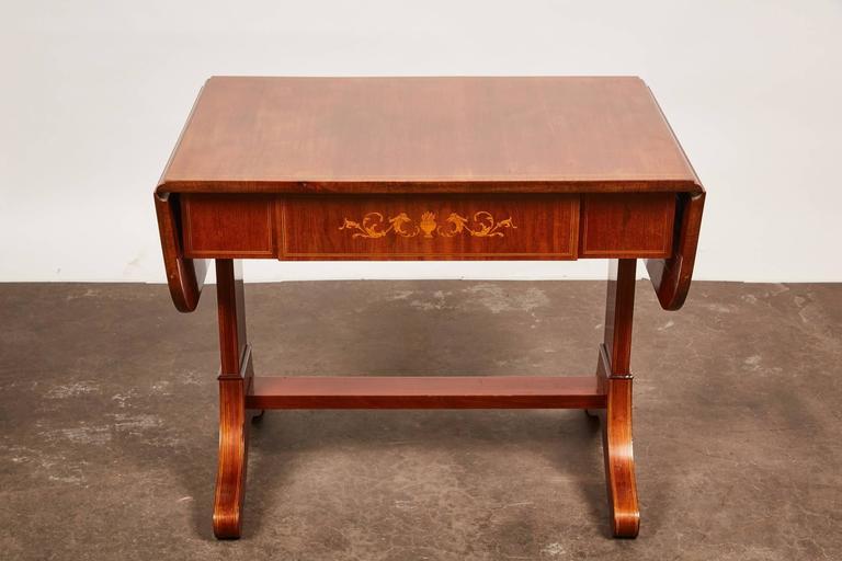 19th Century Danish Empire Mahogany Salon Table For Sale 2