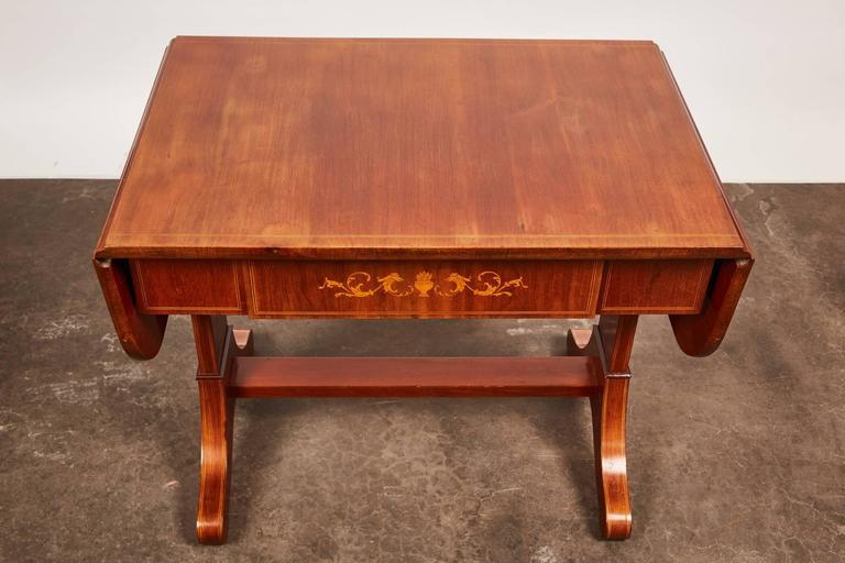19th Century Danish Empire Mahogany Salon Table For Sale 3