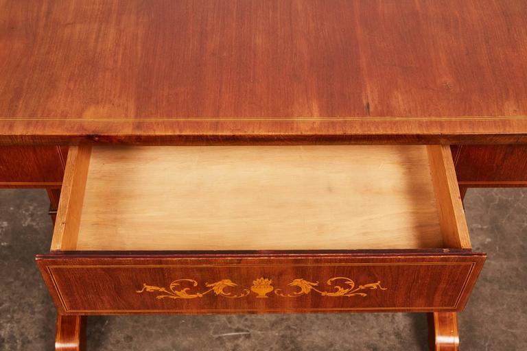 19th Century Danish Empire Mahogany Salon Table For Sale 6