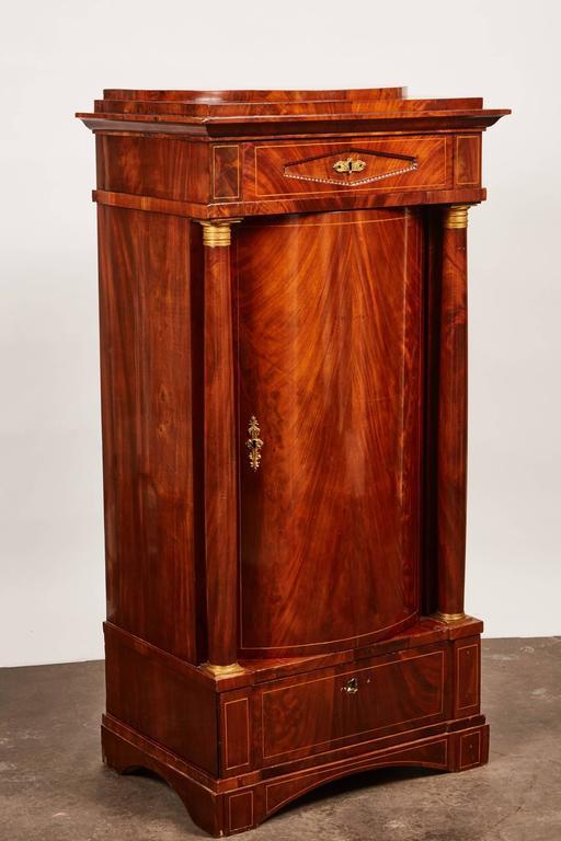 19th Century Danish Mahogany Empire Cabinet In Good Condition For Sale In South Pasadena, CA