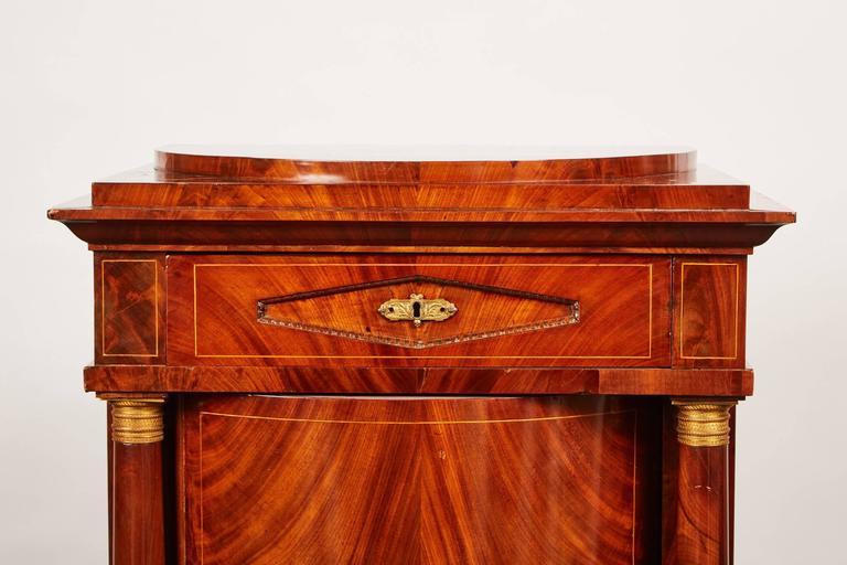 Early 19th Century 19th Century Danish Mahogany Empire Cabinet For Sale