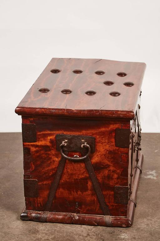 19th Century Iron Bound Trunk 7
