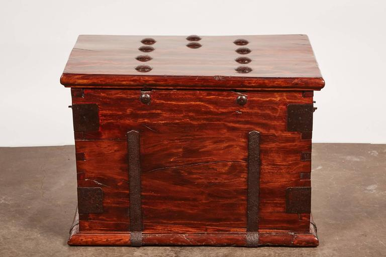 19th Century Iron Bound Trunk 8