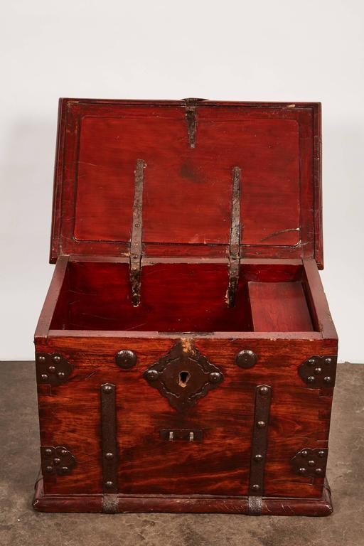 19th Century Iron Bound Trunk 9