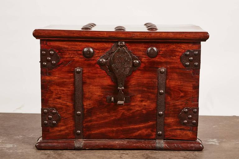19th Century Iron Bound Trunk 2