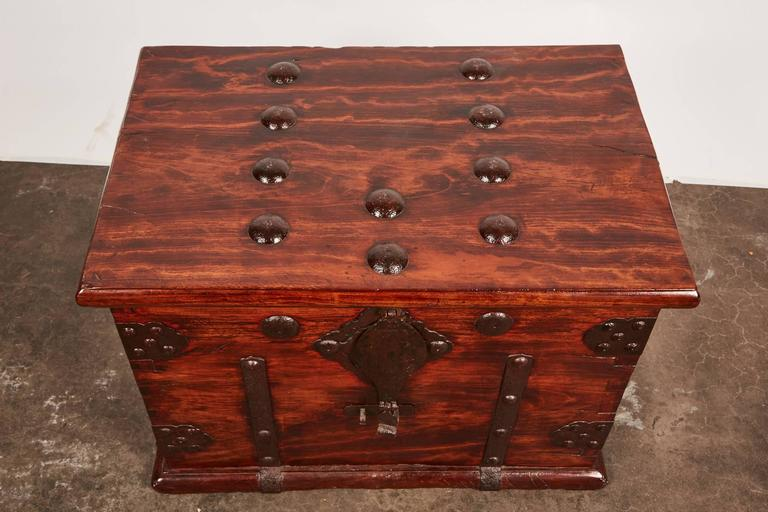 19th Century Iron Bound Trunk 3