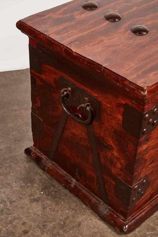 19th Century Iron Bound Trunk 6