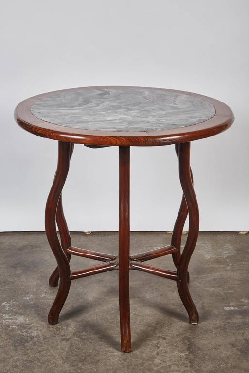 late 19th century chinese round rosewood folding table for sale at 1stdibs. Black Bedroom Furniture Sets. Home Design Ideas