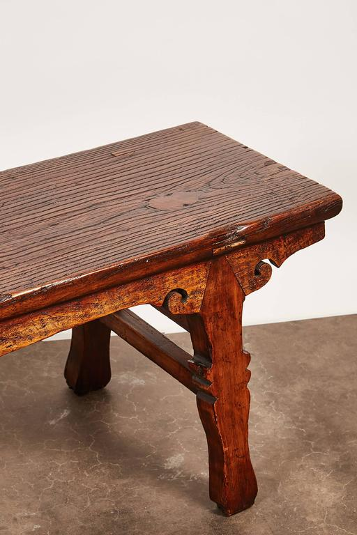 18th Century and Earlier 18th Century Chinese Low Sword Leg Bench or Table For Sale
