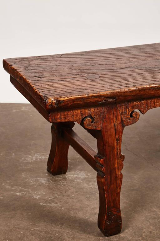 Qing 18th Century Chinese Low Sword Leg Bench or Table For Sale