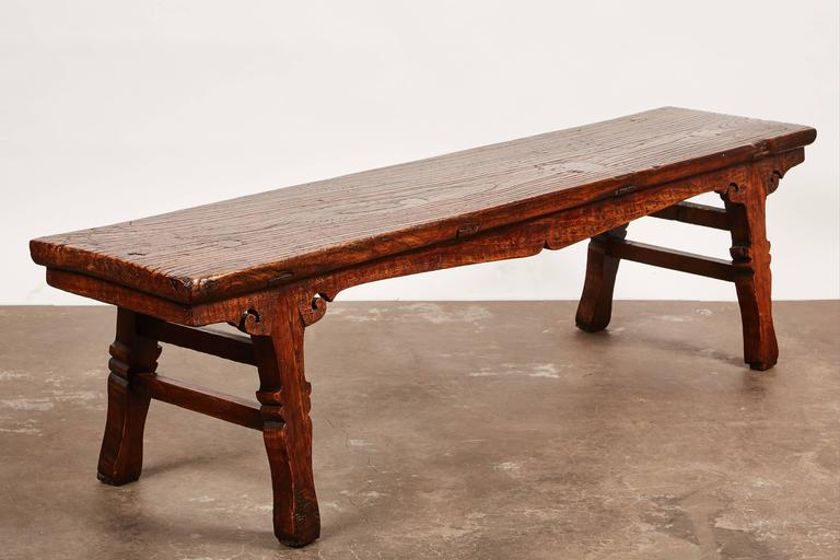 18th Century Chinese Low Sword Leg Bench or Table For Sale 1