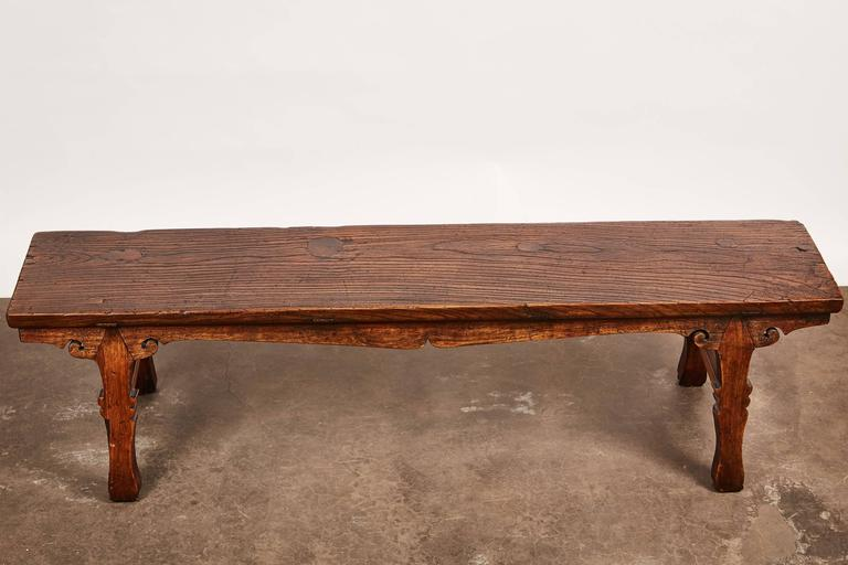 18th Century Chinese Low Sword Leg Bench or Table For Sale 2