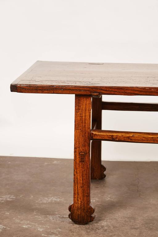Qing Early 19th Century Chinese Elm Table For Sale