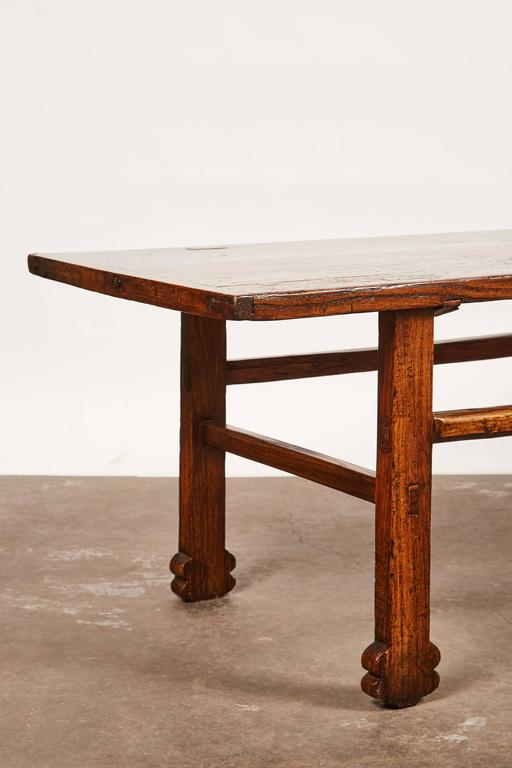 18th Century Early 19th Century Chinese Elm Table For Sale