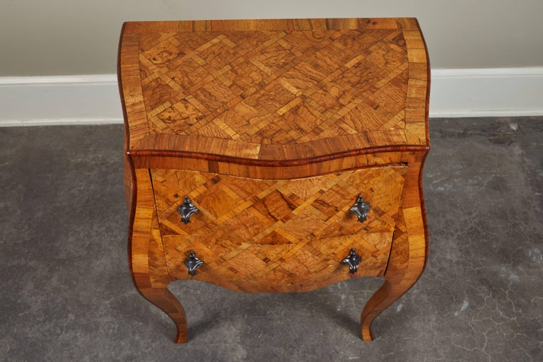 20th Century Petite Italian Marquetry Chest of Drawers For Sale 1