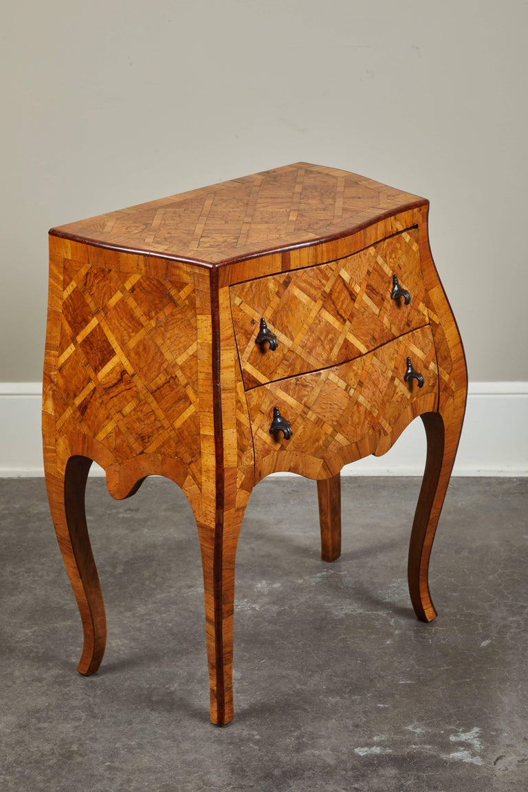 20th Century Petite Italian Marquetry Chest of Drawers For Sale 2
