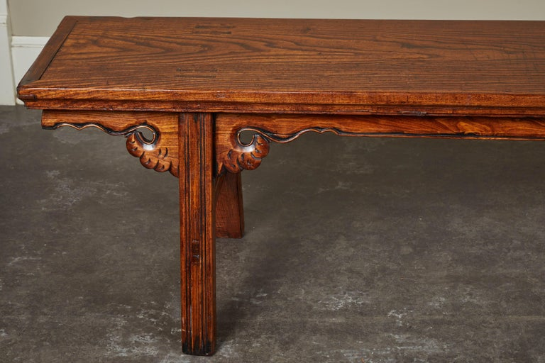 Qing 18th Century Elmwood Bench For Sale