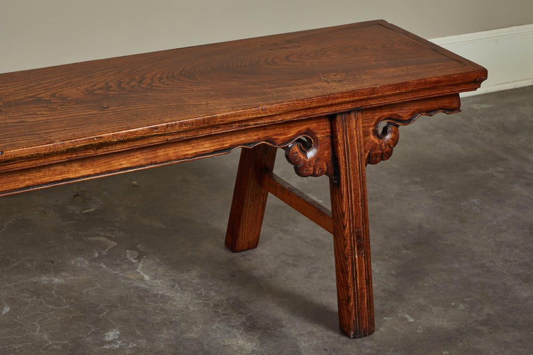 Chinese 18th Century Elmwood Bench For Sale