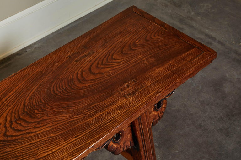 18th Century Elmwood Bench For Sale 1