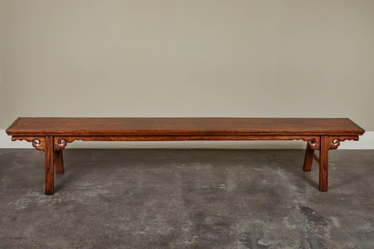 18th Century Elmwood Bench For Sale 4